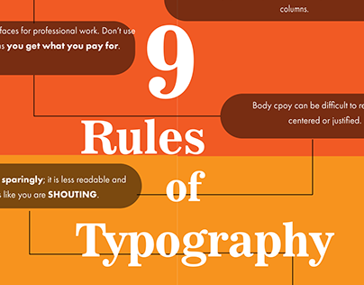 9 Rules of Typography