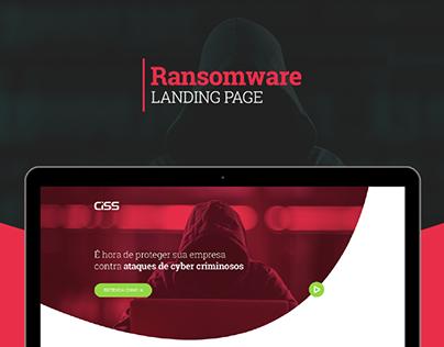 Ransomware - Landing Page