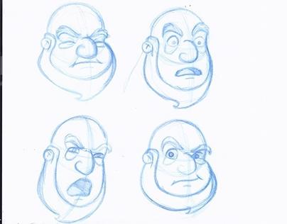 Noah expressions sketches