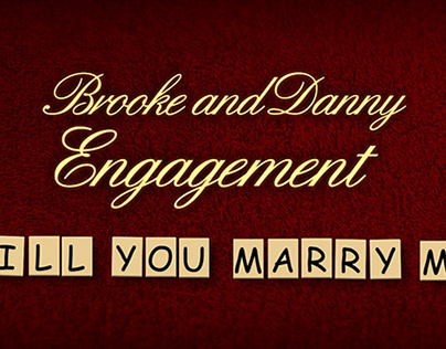 Brooke & Danny Engagement Title Sequence