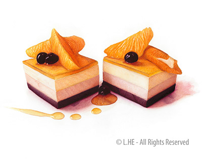 Desserts by Watercolor