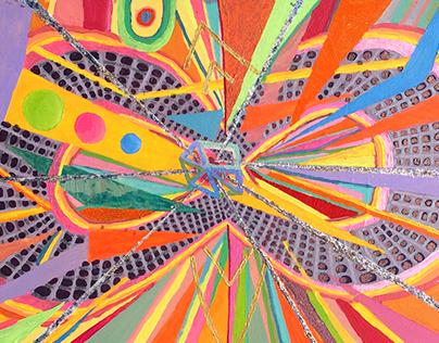 """Big Lean Vortex"" painting by AOK artist"