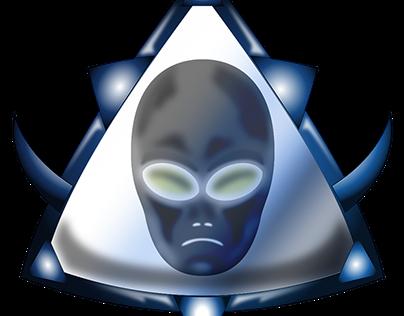 Alien Head Icon Set