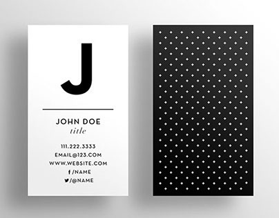 The Initial Business Card Template