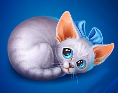 Kittens for social mobile game