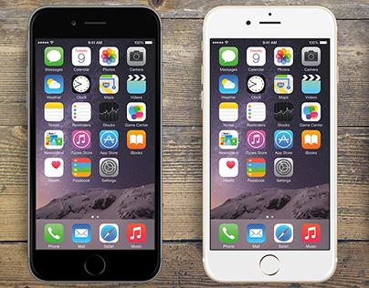 "Mockup screen iPhone 6 - 4,7"" PSD"