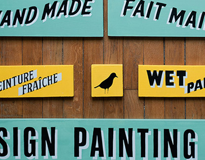 Sign painting & hand lettering