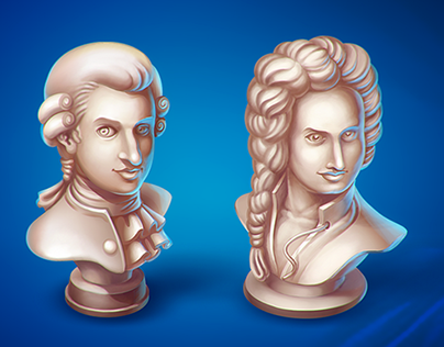 Busts of great composers