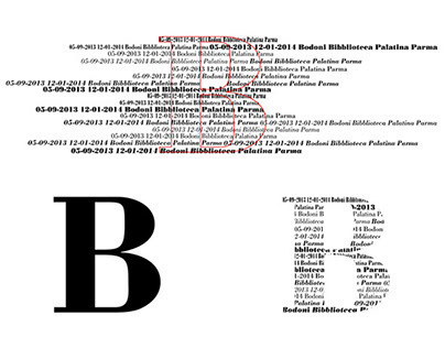 brochure for exhibition of Bodoni