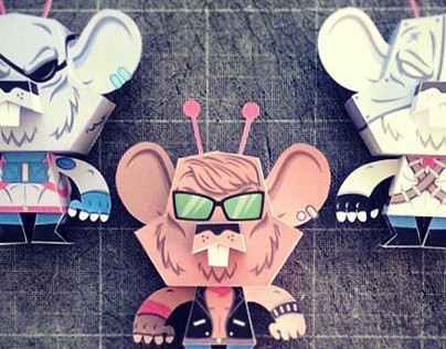 Biker Mice From Mars - Papertoy