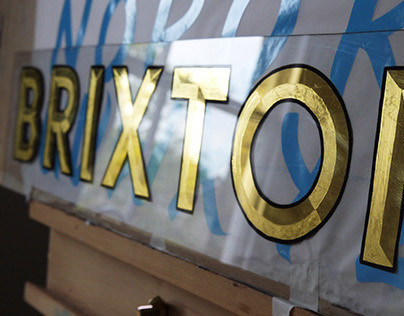 Brixton gilded sign