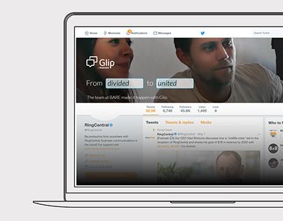 Social Media Campaign: RingCentral Glip