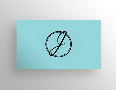 Black & SeaMint Business Card Template - $6