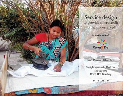 Service design to provide micro credit part1