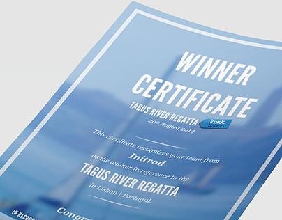 Certificate Layout - Inside Lisbon Events