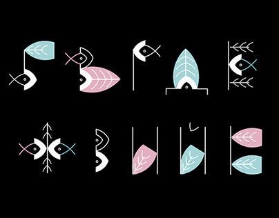 Fishtail font