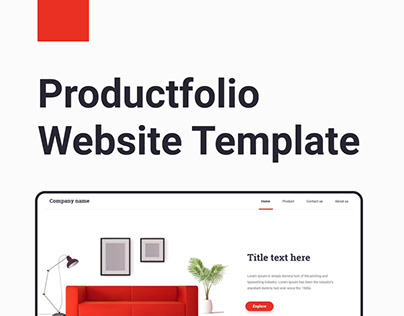 Productfolio Web Template