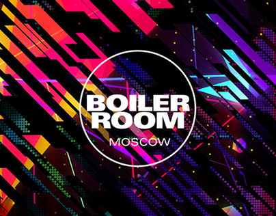 Boiler Room Moscow visuals