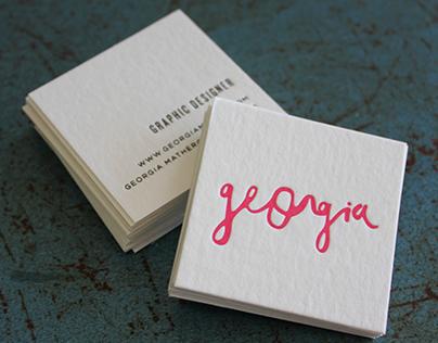Georgia Mather Business Cards