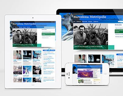 Barcelona Metropolis Web Design