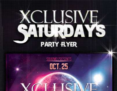 Xclusive Saturdays Party Flyer
