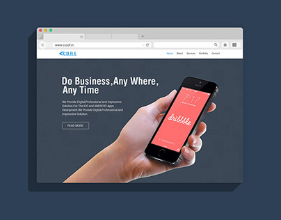 Web Site Layout For IT company