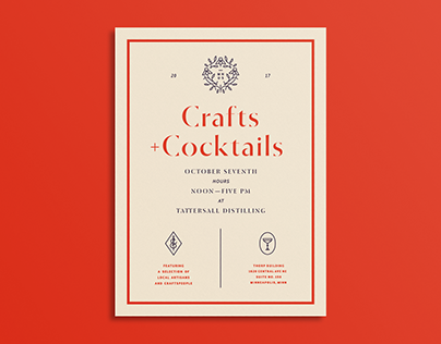 Crafts & Cocktails Poster