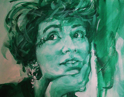 Portrait of Bianca - Acrylic on canvas 50x50 cm