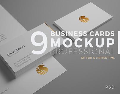 9 Business Card Mockup Professional