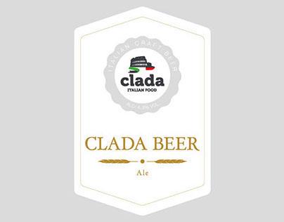 "Etichetta birra ""Clada"""