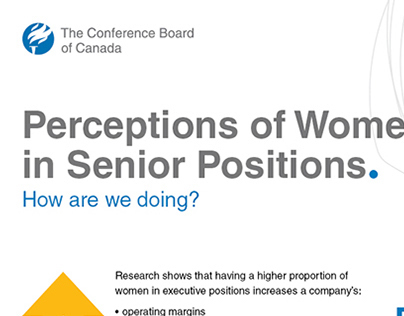 Perceptions of Women in Senior Positions Infographic