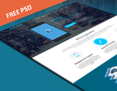 FREE PSD : BezalShop Landing Page