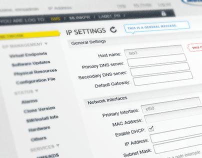 Administritive Web UI
