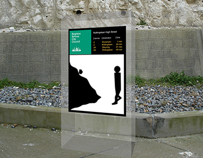Brighton Undercliff Walk light & sign system redesign