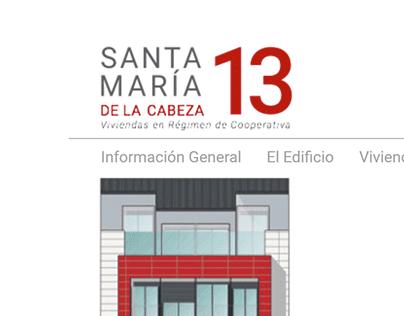 Web promoción de viviendas Santa María de la Cabeza 13