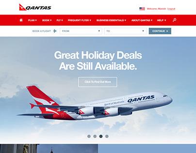 Qantas - Responsive Web Design Concept
