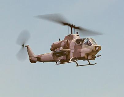 3D Composition - AH-1W SuperCobra 1:48 Miniature