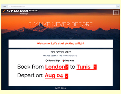 AIRLINE BOOKING UI/UX
