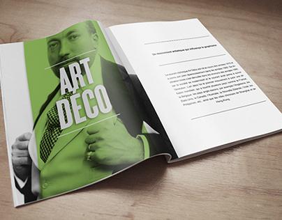Projet magazine art déco / Projet scolaire