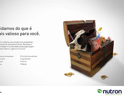 "Anúncio Nutron conceito ""Baú do Tesouro"""