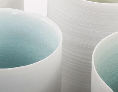 thrown porcelain