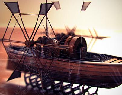 Da Vinci's Paddle Boat