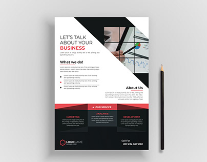 One Page Professional Business Flyer with clean design