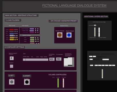 Fictional Language Dialogue System - Max/MSP