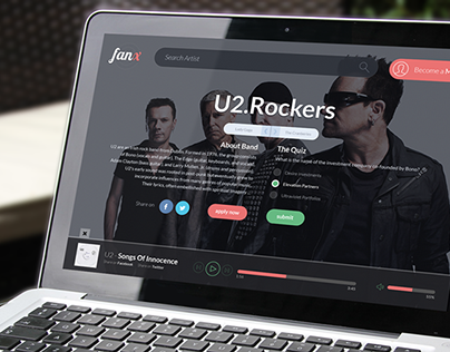 Music WebApp - FanX