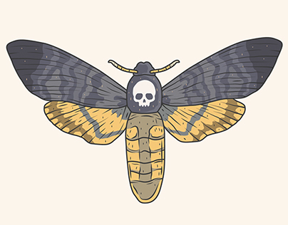 Skull and Death Moth.