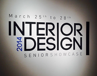 Interior Design Senior Showcase 2014 Wall Decal