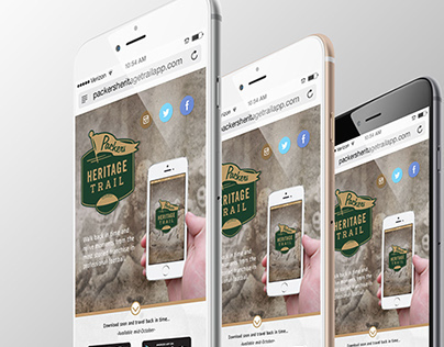 Packers Heritage Trail Mobile App Website