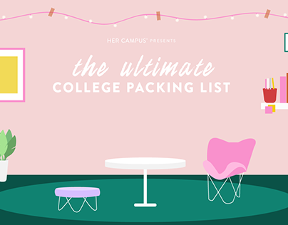 College Packing List Illustrations