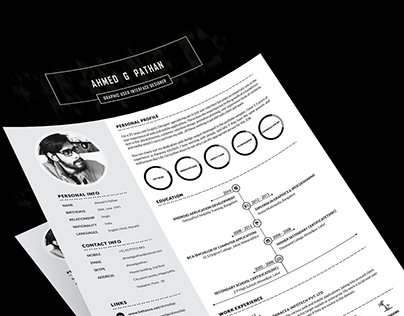 Resume Design - (Ahmed Pathan)